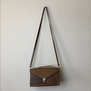 Genuine Leather Brown Camera Style Bag